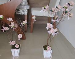 Mini Arvore francesa com rosas I