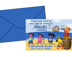 Convite Backyardigans Piratas