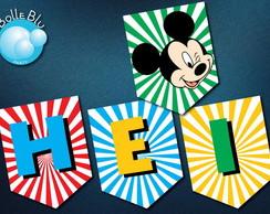 Bandeirolas Digital Mickey Disney Club