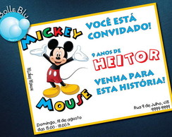 Mickey Mouse Disney Convite Digital