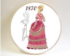Quadro Hist�ria Da Moda Traje De 1870