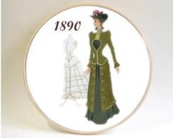 Quadro Hist�ria Da Moda Traje De 1890