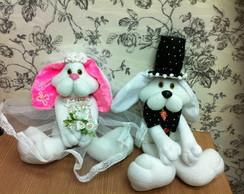 Coelhos Noiva e Noivo