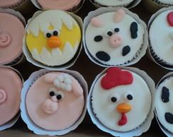 Cupcake da fazendinha