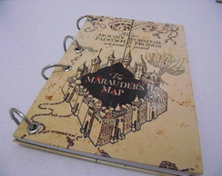 Caderno A5 Mapa do Maroto - Harry Potter