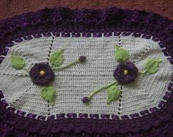 tapete oval,croch�