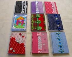 Cadernetas Encapadas Com Tecido 2