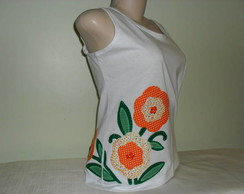 Camiseta Regata Floral 1