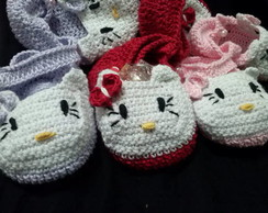 Sapatinho Croch� da hello kitty