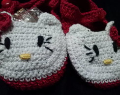 Sapatinho Croch� hello kitty