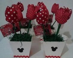 Centro de mesa MINIE com tulipas