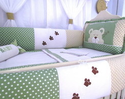 KIT BER�O 08 PE�AS URSO DORMINHOCO VERDE