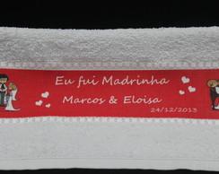 Lembran�a p/Casamento Toalha Lavabo