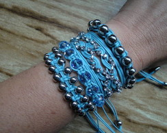 MIX AZUL COM STRASS