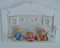 (MA 0086) Quadro maternidade quarto ursos