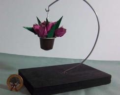 """Mini Vaso Pendente """"tulipa"""""""