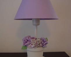 (AJA 0023b) Abajur flores tecido