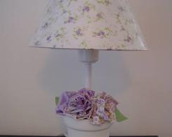 (AJA 0023c) Abajur flores tecido