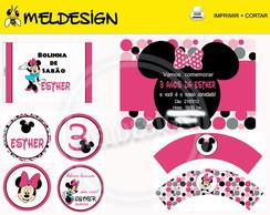 Kit Festa Digital - Minie rosa