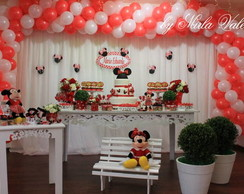 Loca��o Mesa Decorada Minnie Vermelha