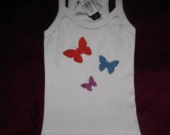 Camiseta regata nadador adesivo borbolet