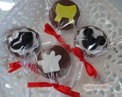 Pirulitos de chocolate do Michey!