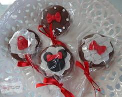 Pirulitos de chocolate da Minnie!