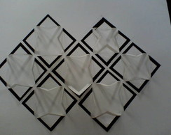 Gravura em papel geometrico