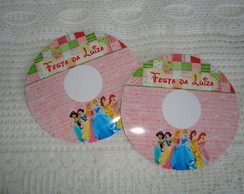 R�tulo para cd e dvd as princesas