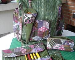 Bolsa de patchwork com kit