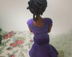 Boneca para topo de bolo