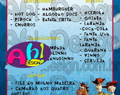 Card�pio/Menu - Toy Story