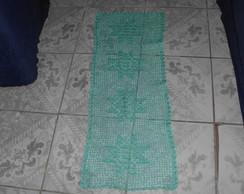 caminho de mesa verde agua