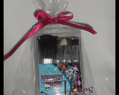 kit de pincel p/ maquiagem monster high