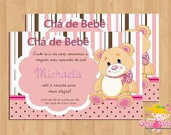 Convite Ch� de Beb� Ursinha Rosa