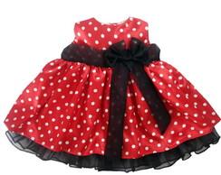 Vestido Minnie Vermelho 1002