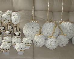 Kit para festas branco & champagne I
