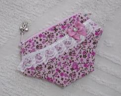 Porta-n�quel Calcinha Rosa Floral