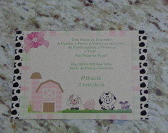 Convite - Tema Fazendinha