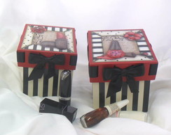 Kit Caixas Batom e Esmalte 3D