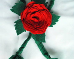 Maxi Broche Rosa Vermelha