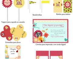 Kit Para Impress�o - Jardim Encantado