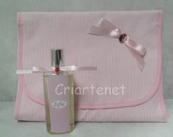 N�cessaire e Home Spray Batizado Rosa