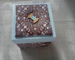 caixa porta costura - cartonagem