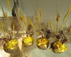 Arranjo De Flores Secas Na Cumbuca VIII