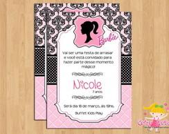 Convite Barbie mod.2