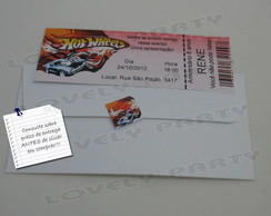 CONVITE INGRESSO HOT WHEELS