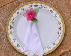 Porta guardanapos flor meia de seda