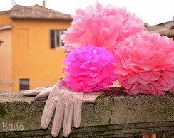 Pompom Kit 10 M Decora��o Jantar Evento