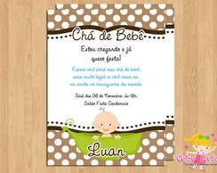 Convite Ch� de Beb� Ervilha Menino